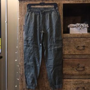 Pants - Olive Green Cargo Style Pants